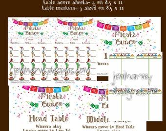 Fiesta Bunco Complete Set