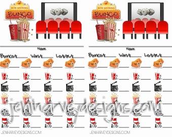 Movie Night Bunco Table Score Card