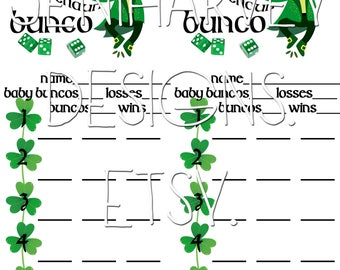 Leapin' Leprechaun Bunco Score Card