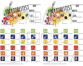 Rocktoberfest Bunco Score Card
