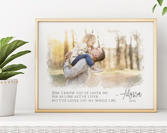christmas gifts for dad gift for father portrait from photo personalized gifts for dad new dad gift personalized portrait