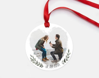 Personalized Engagement Gift - Engagement Photo Ornament