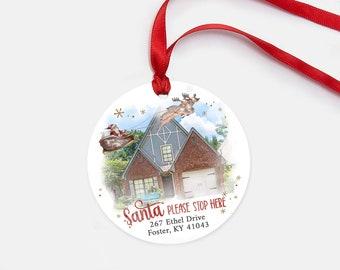 New Home Ornament - Santa Stop Here