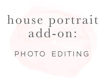 Photo editing Services for Watercolor House Portrait