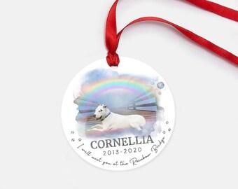 Rainbow Bridge Christmas Ornament - Pet Memorial Gift