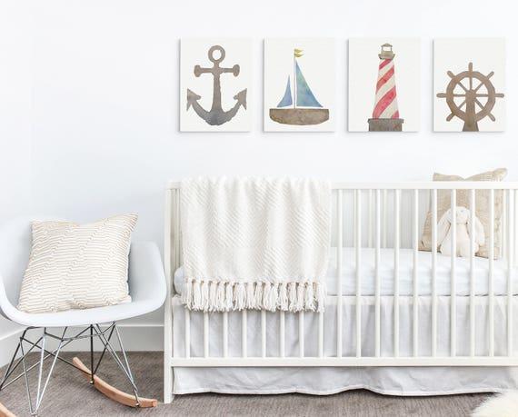 Nautical Baby Wall Decor Ocean Nursery Wall Art Beach Baby | Etsy