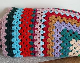 Square Granny Throw, Crochet Granny Throw,