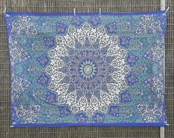 Hippie Bed Throw, Mandala Throw, 188cm x 138cm