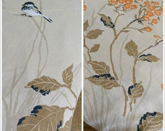 Fitted Sheet, Double Fitted Sheet, Double Bed Sheet, Birds and Leaves, Autumn, Woodland, Nature, Cottage Chic, Country Chic.