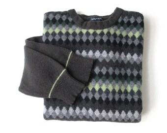 eb421b4d9a62 Fisherman sweater chunky knit Irish Aran oversized sweater