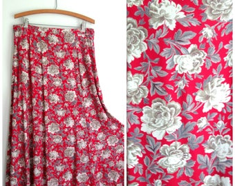 Koko Womens Plus Size Burgundy Floral Maxi Shirt Dress