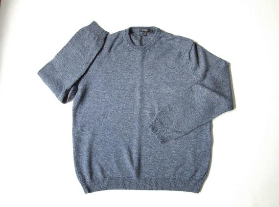 797027d0d12d crewneck sweater blue grey heather wool ivy league preppy