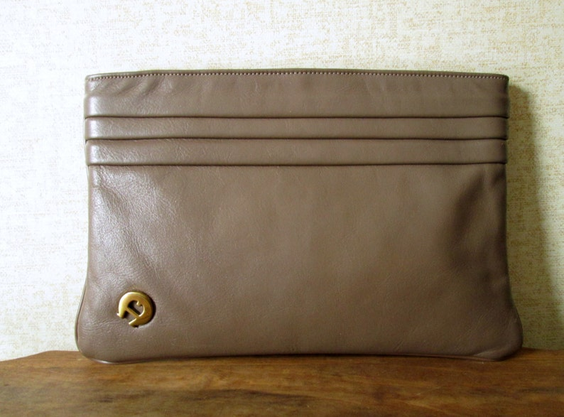 839653b811367 Clutch bag taupe brown leather clutch purse minimalist | Etsy