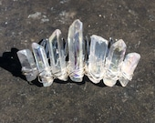 Angel aura quartz crystal hairpin, quartz mini crown, raw crystal hair comb, crystal mini crown, crystal hair pin