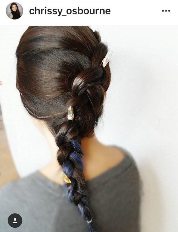 Quartz Crystal Hair pins Set of 6