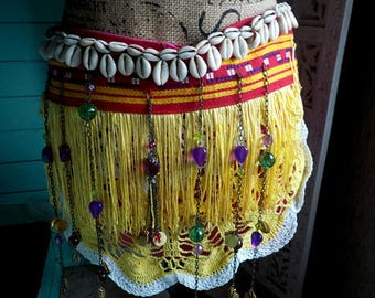 Upcycled Tribal Coin Hip Belt for Rave Costumes, Belly Dance and Burning Man