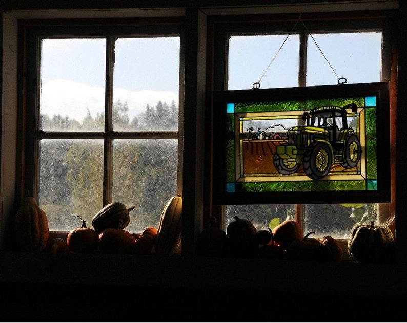 Tractor in Autumn Photo Farm decor Wall decor Home decor image 0