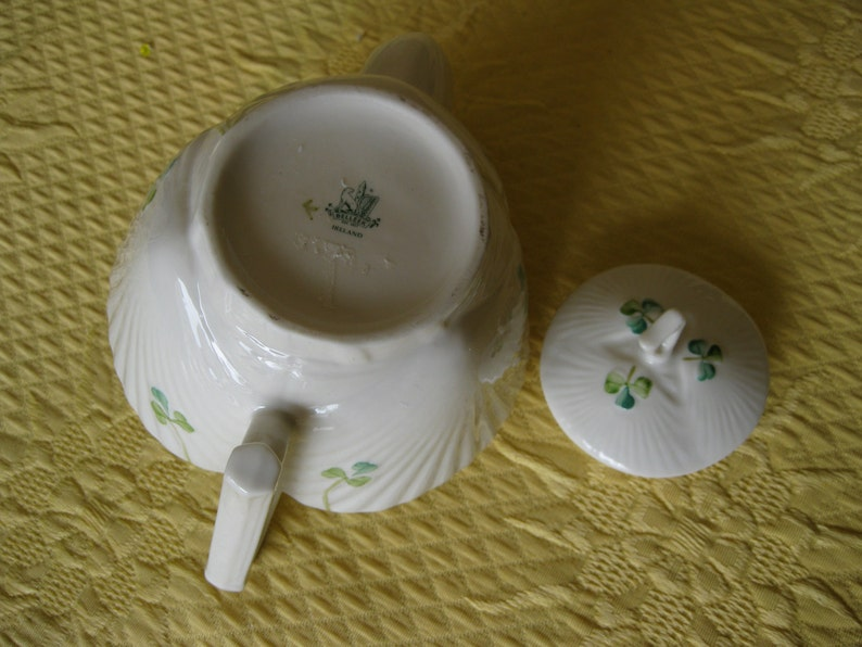 Belleek Small Teapot Shamrocks