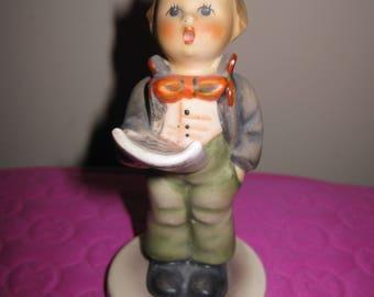 Hummel Goebel German Boy Figurine Soloist Holding Music