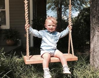 Ash Bench Style Swing  | Tree Swing | Rope Swing | Backyard Swing | Bench Swing