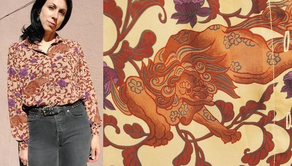 Campus casual dragon blouse vintage 70s nouveau st
