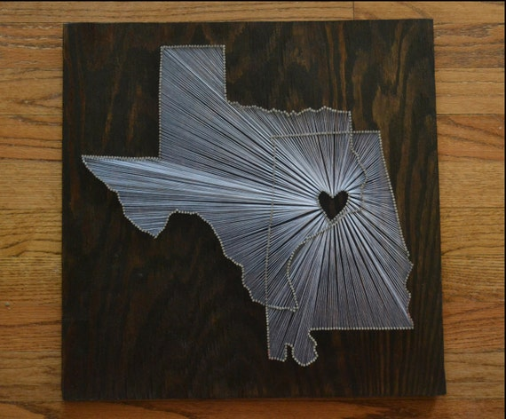 The Original Two State String Art 18x18 Two State One Etsy