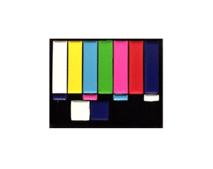 TV Test Card Enamel Pin