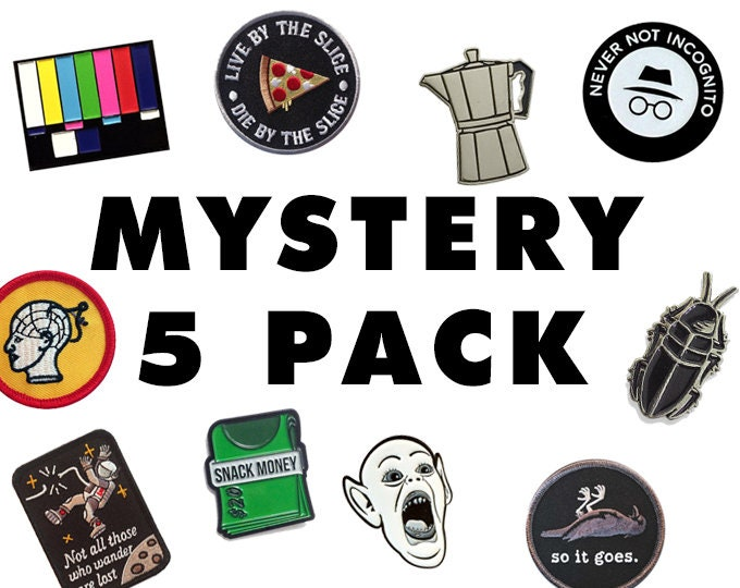 Five Piece Pin And Patch Surprise Pack