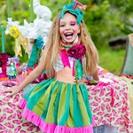 Alice Through the Looking Glass, Mad Hatter Inspired Costume, Tea Party Dress, Limited Edition