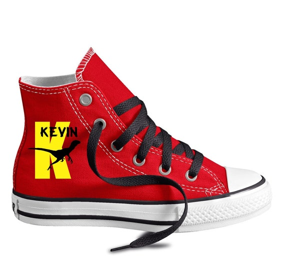7d6663d4f72 Dinosaur Monogram Custom Converse Youth Shoes Personalized