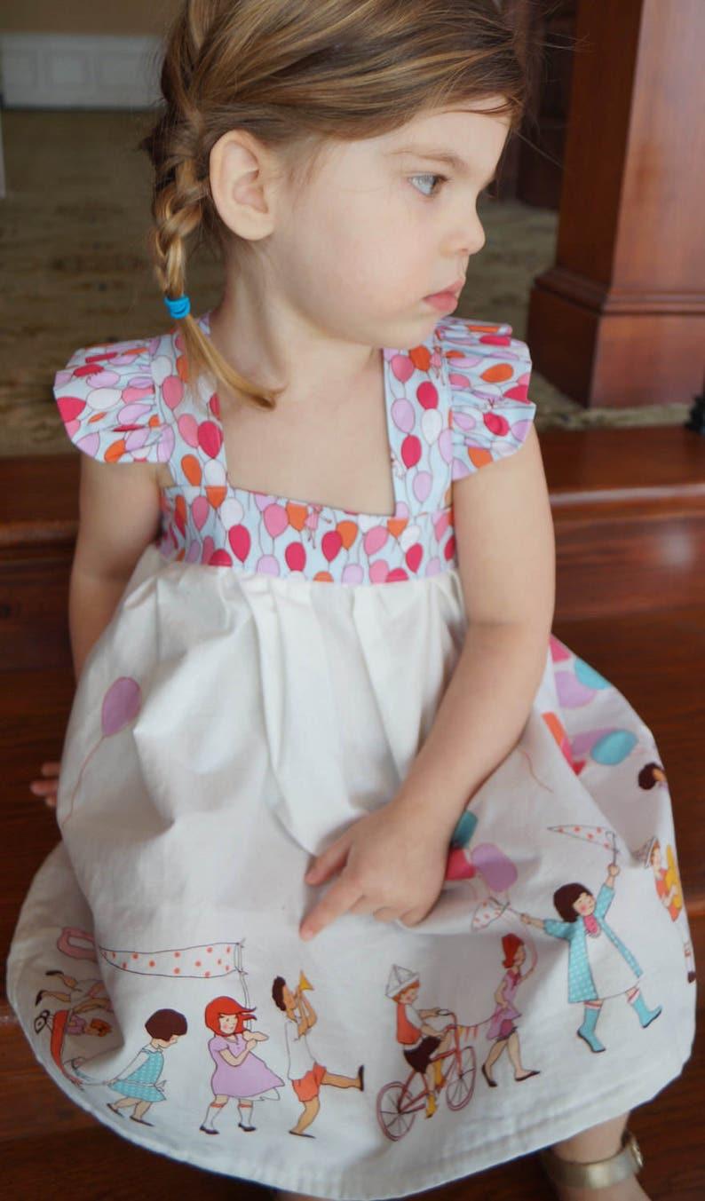 Birthday Flutter Sleeve Dress I Sarah Jane Fabrics