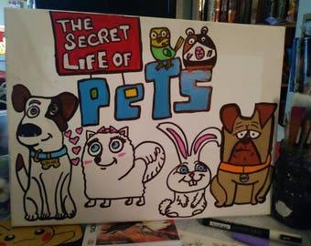 Secret Life of Pets 11x14 Canvas