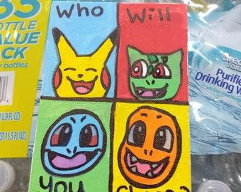 Pokemon Starter 5x7 Canvas