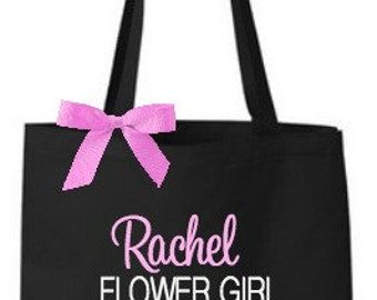 Personalized Flower Girl or Ring Bearer Tote Bag