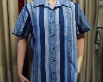 Vintage shirt for men Charlie Sheen style.