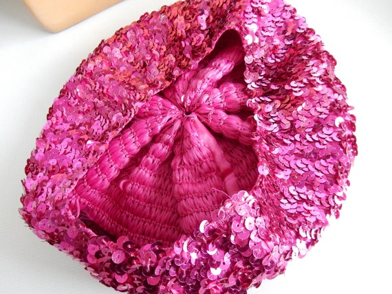 Beret, Pink Sequins, Costume, - image 3
