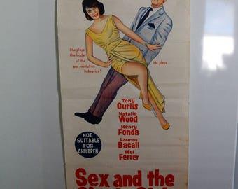 Lobby Poster, genuine 1964 Tony Curtis natalie Wood