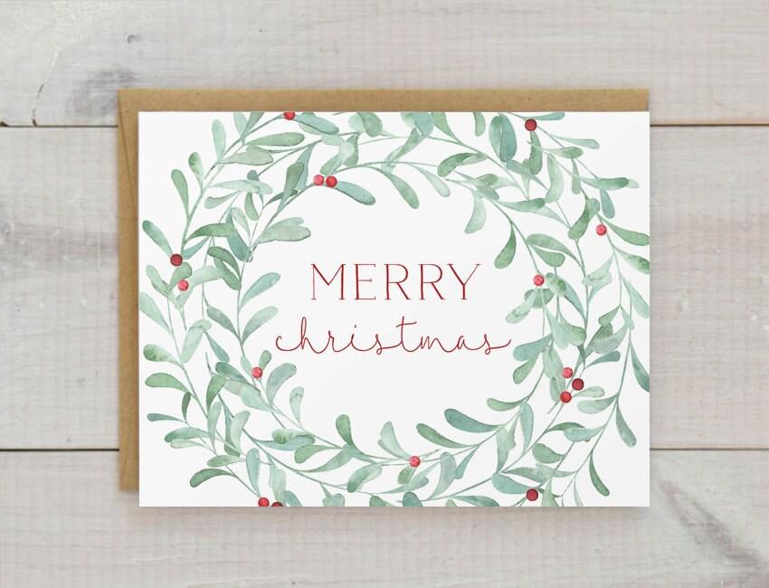 weihnachtskarten weihnachtskarte set weihnachten kranz etsy. Black Bedroom Furniture Sets. Home Design Ideas