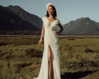 Paz Dress- Silk, simple elegant Wedding dress