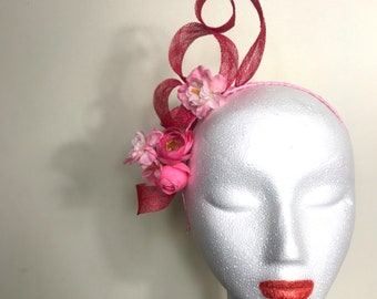Hot Pink Fascinator Headband