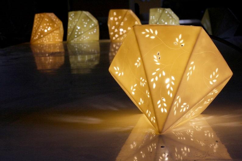 Bedside accent Lamp made of porcelain Nursery Lamp Ceramic image 0