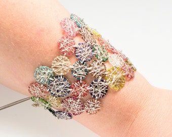 Art bracelet - wire sculpture art - convertible jewelry
