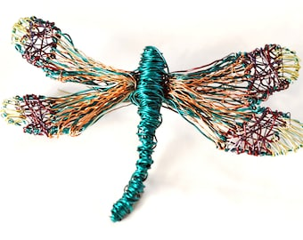 Turquoise dragonfly brooch, bug insect art pins