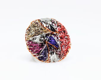Contemporary art, circle ring, unusual ring