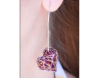 heart, home earrings