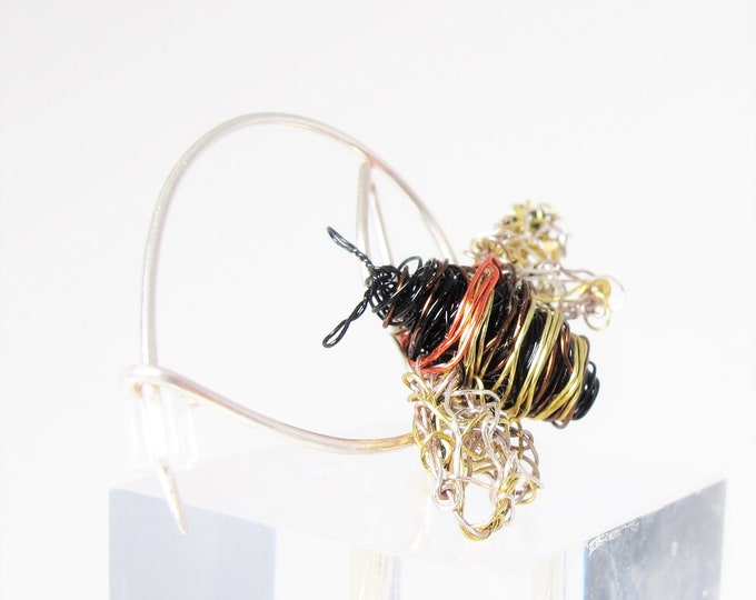 Featured listing image: Honey bee brooch - bee pin - black gold jewelry - modern art jewelry - handmade jewelry