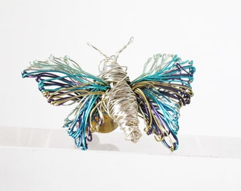 Light blue butterfly brooch -  contemporary jewelry