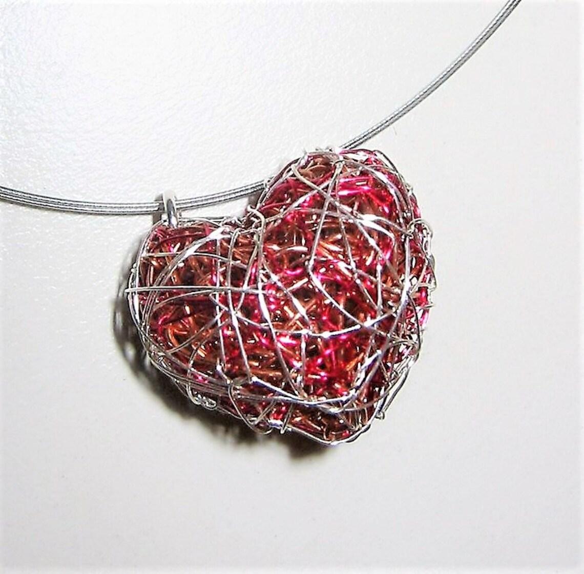 Heart jewelry, modern heart pendant