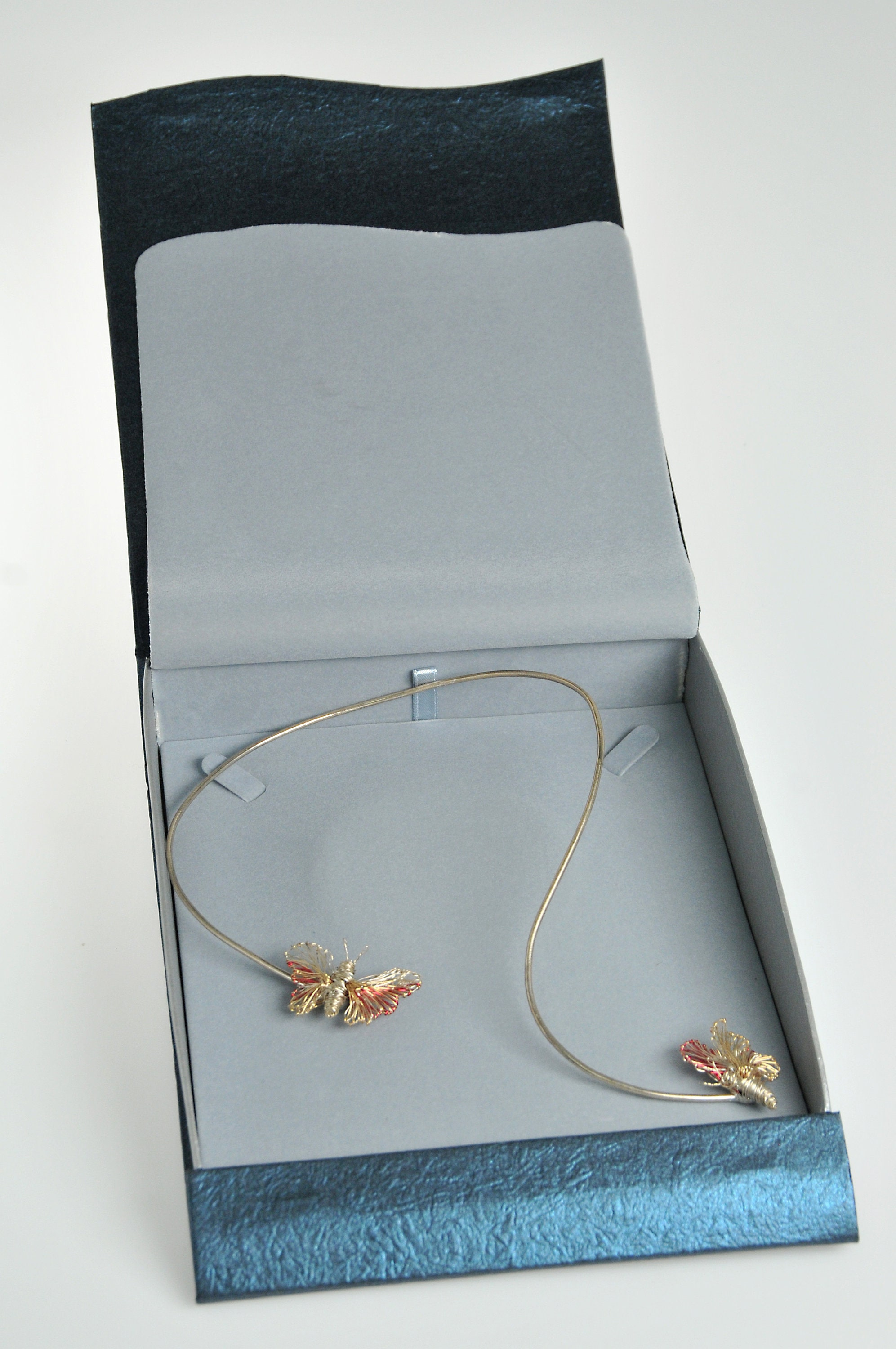 Gold butterfly necklace, 14k gold necklace, yellow gold, bridal set ...