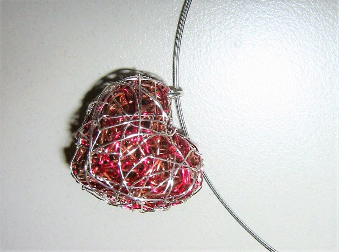 Wire wrapped unique jewelry, handmade necklace